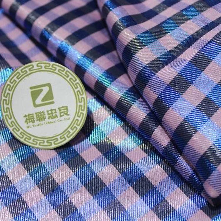 MLZL Vải Yarn dyed / Vải thun có hoa văn Nhà máy trực tiếp thời trang váy màu dệt vải jacquard Mặc m