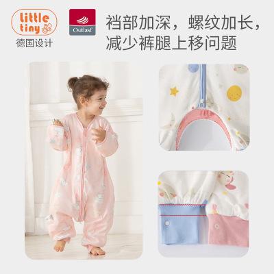 Túi ngủ kiểu dạng quần áo body cho bé gái .