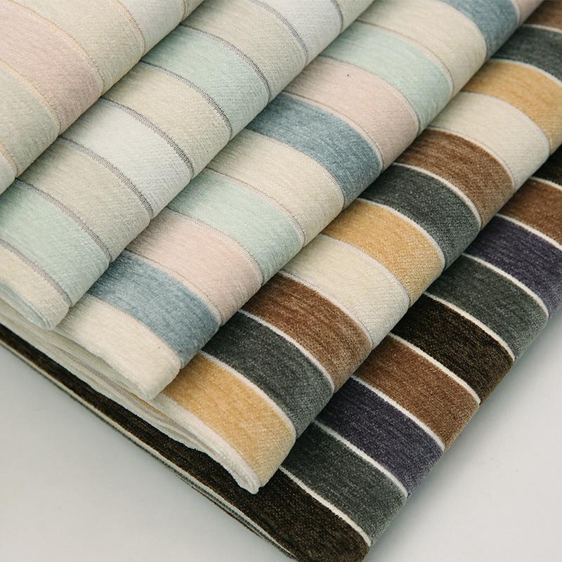 ZHONGDA Vải Yarn dyed / Vải thun có hoa văn Nhà máy trực tiếp sọc ba màu vải chenille vải dệt thoi r