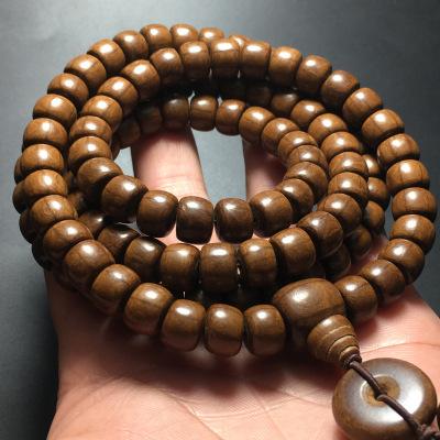 HENGYUEGONGYI Chuỗi phật Wutaishan Liudaomu vòng đeo tay chất liệu cũ 108 hạt sáu chuỗi tràng hạt bằ