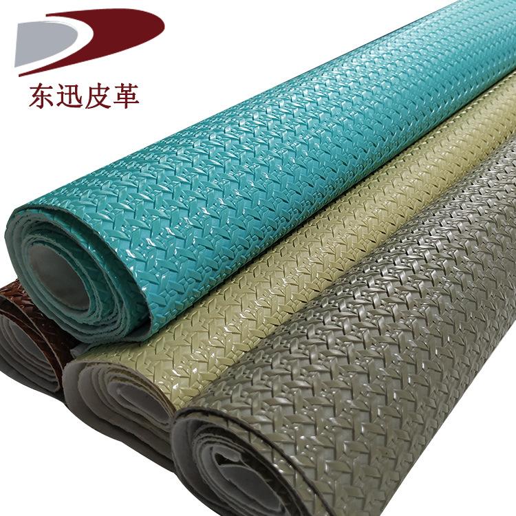 DONGXUN Da heo Nhà máy sản xuất trực tiếp kích thước dệt mẫu PVC vải da dệt Vải nhung mềm nhung giả