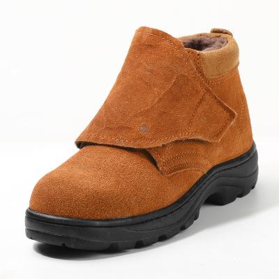 Giày bảo hiểm lao động nam thợ hàn điện cộng với lớp nhung ấm