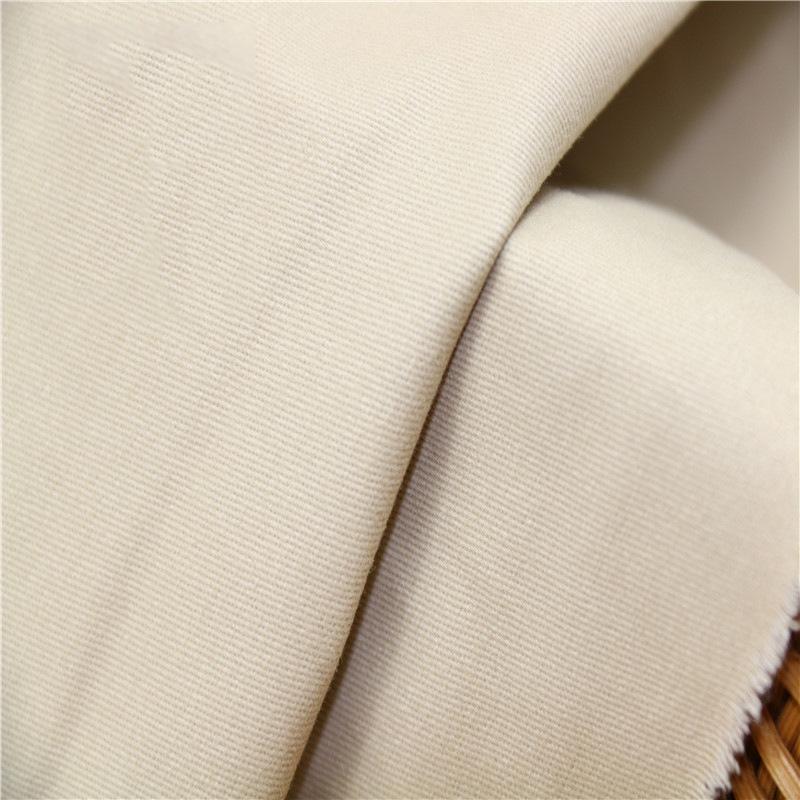 XUYANG V ải Twill Đầm mùa thu và mùa đông cotton sợi thun co giãn dày 20 * 16 + 70D vải thun co giãn