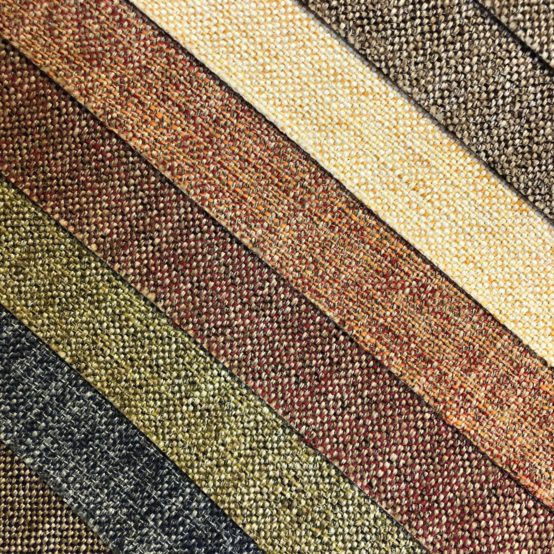 BUWEILAI Vải Cotton pha Nhà máy trực tiếp dày đồng bằng vải sofa màu cao cấp pha trộn vải lanh thô c