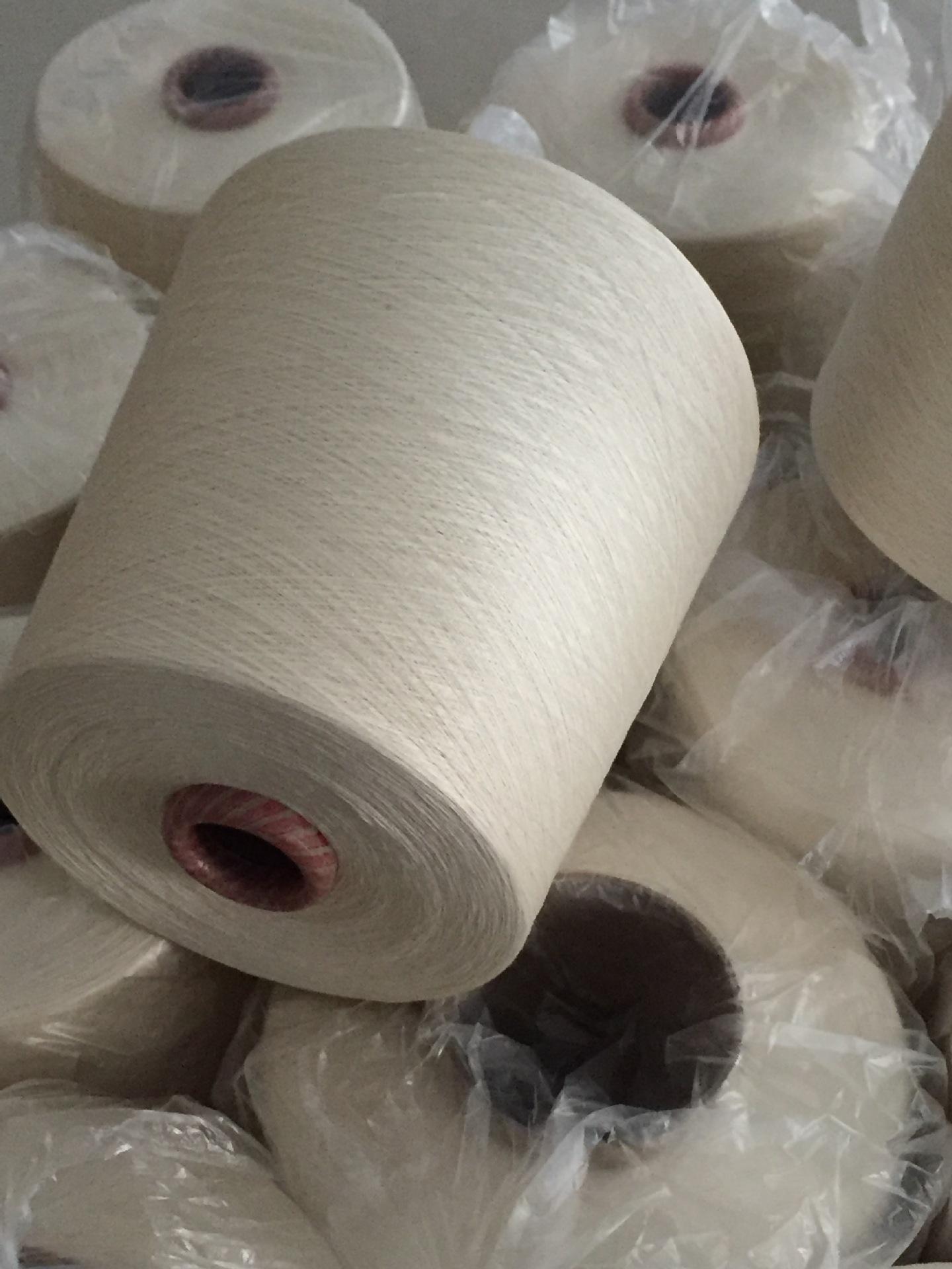 Sợi tơ lụa Jin Yizhen kéo sợi bông và tơ pha sợi 120nm / 2 30% cotton 70% sợi tơ tằm