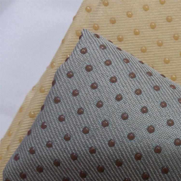 Vật liệu chức năng Đồng phục Twill Silicone Drop Nhựa Sofa Xe Ghế Mat Sàn Cửa sổ Vải chống trượt Vải