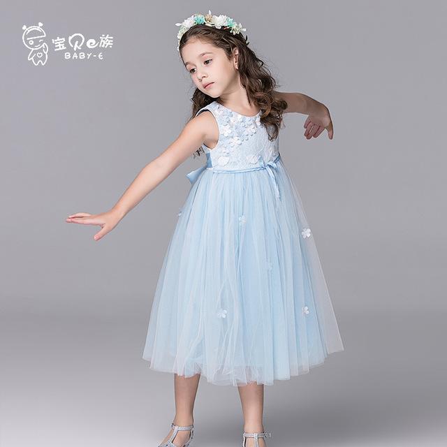 BAOBEI E ZU Đầm Trẻ em mặc váy bé gái mùa hè mới trẻ em váy công chúa váy fluffy trong váy cô gái lớ