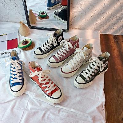Thị trường giày nữ Hàn Quốc chụp hàng triệu năm giày cổ điển đa năng retro thập niên 1970 giày vải c