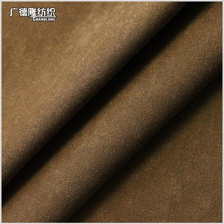 GUANGDELONG Vải pha sợi Mùa thu và mùa đông Guangdelong dệt cao cấp mềm mại La Mã pha trộn phù hợp v