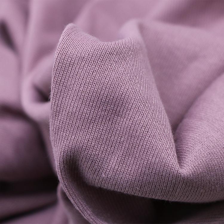 OSHOW Vải Rib bo 230 g TR vải cotton hai mặt kéo khung thiết kế đan vải đáy áo T-shirt vải thời tran