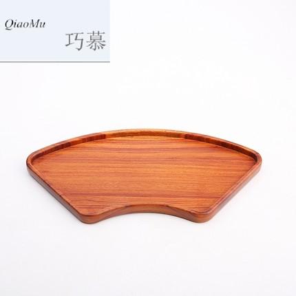 CHAMOO  Mâm nhựa / Pallet nhựa   Qiao Mu gỗ gụ khay trà khay một lớp toàn bộ gỗ rắn nhỏ bong bóng kh
