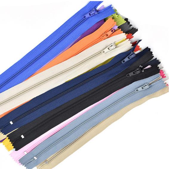 Dây kéo Nylon 3 # nylon đóng cửa dây kéo kích cỡ màu khác nhau tùy chỉnh nhà máy trực tiếp xuyên biê
