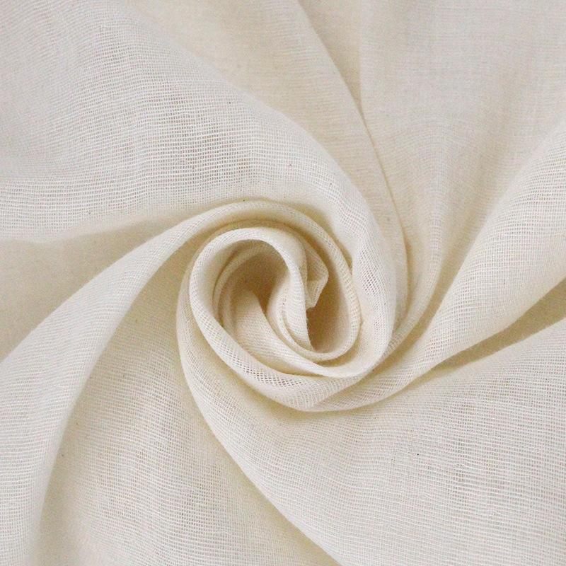 Vải Cotton mộc Nhà máy bán buôn 8864 mật độ bông gạc vải màu xám hai lớp sợi không huỳnh quang siêu