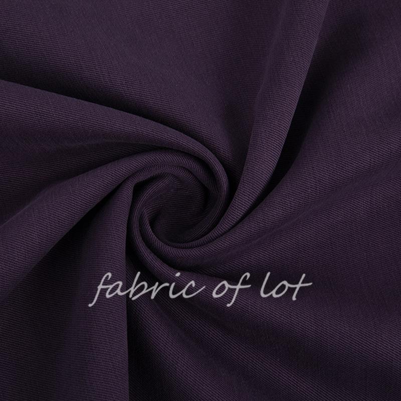 LUODE Vải mộc pha Vải lụa pha chéo Twill Vải của phụ nữ cao cấp có thể được cắt bằng vải màu xám 121