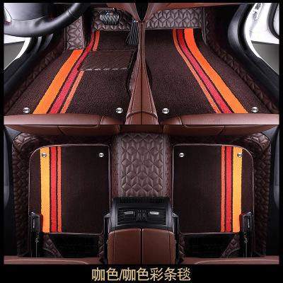SHENYU Bộ khung khuếch tán khí Thảm lót sàn ô tô 360 túi khí mềm bao quanh toàn cầu dễ lau chùi một