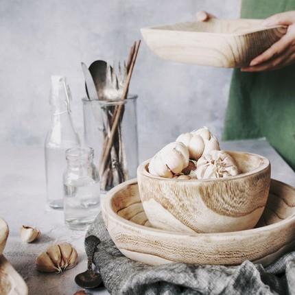 CHAMOO  Mâm nhựa / Pallet nhựa   Qiao Mu paulownia khay gỗ rắn tấm phẳng tấm trái cây tấm tráng miện