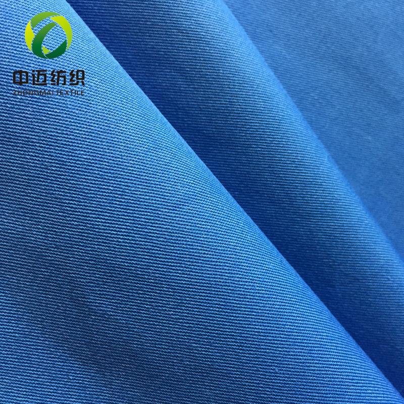 Vải mộc pha Nhà máy trực tiếp CVC twill tốt TC pha trộn twill dệt polyester bông quần thường xuyên q