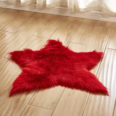 Thảm lót vải bông hình ngôi sao trang trí phòng .