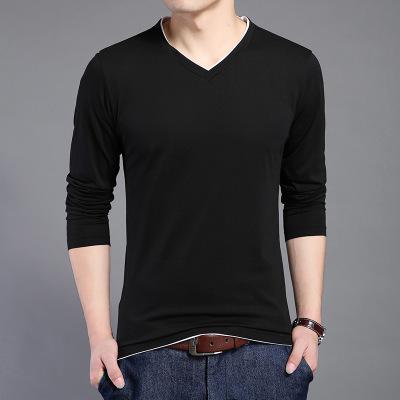 Áo thun mau khô Áo thun nam trẻ trung mới phiên bản Hàn Quốc theo xu hướng cotton nguyên chất màu đơ