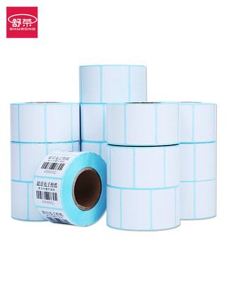 Tem dán in mã vạch  FCL 100 cuộn giấy dán giấy nhiệt 40x30 80x50 60 siêu thị giấy gọi 50x30 60x40 T