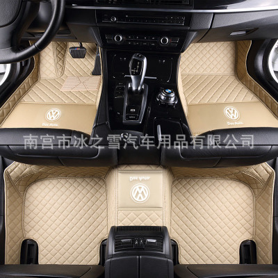 QIDIAN Bộ khung khuếch tán khí Thảm trải sàn mới 2018 của Volkswagen Tiguan L Phiên bản thời trang t