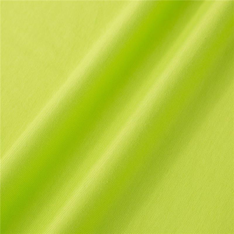 HMSJ Vải dệt kim Chất liệu cotton dệt kim đơn giản của thập niên 21 180g mùa xuân và mùa hè nam nữ m