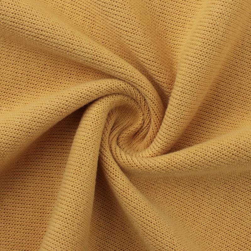 TAISEN Vải Rib bo Áo len mới của Tyson chải lông cừu hai mặt 350g len dệt kim sợi vải dày 2 * 2 kim