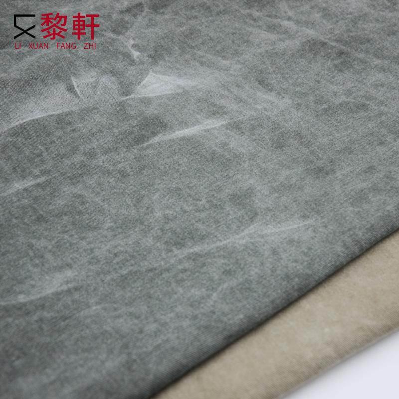 LIXUAN V ải Twill Sơn bông dệt Bi-style nước rửa vải twill vải cao bồi hoài cổ retro sợi thẻ túi vải