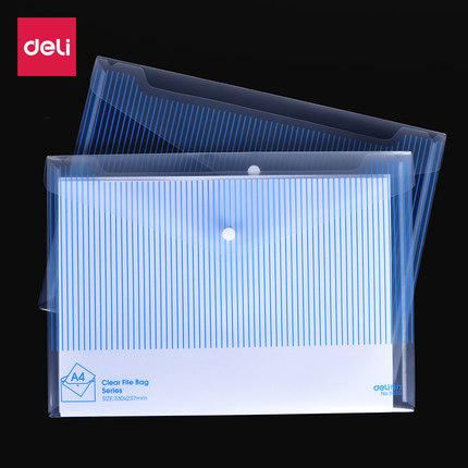 Deli Đồ dùng tài vụ   Túi đựng tài liệu hiệu quả A4 trong suốt thư mục nhựa mang thai báo cáo danh m