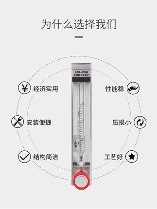 Đồng hồ đo lưu lượng dòng chảy  Lưu lượng kế rôto thủy tinh lzb-3wb khí nitơ oxy lỏng nước ống thủy