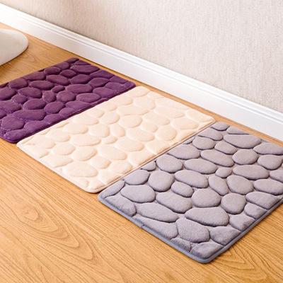 Thảm lót đá cuội đơn giản , thảm lót trước cửa phòng .