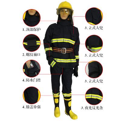 Trang phục chống cháy Chứng nhận dịch vụ chữa cháy 3C phù hợp với 14 lính cứu hỏa quần áo phòng cháy