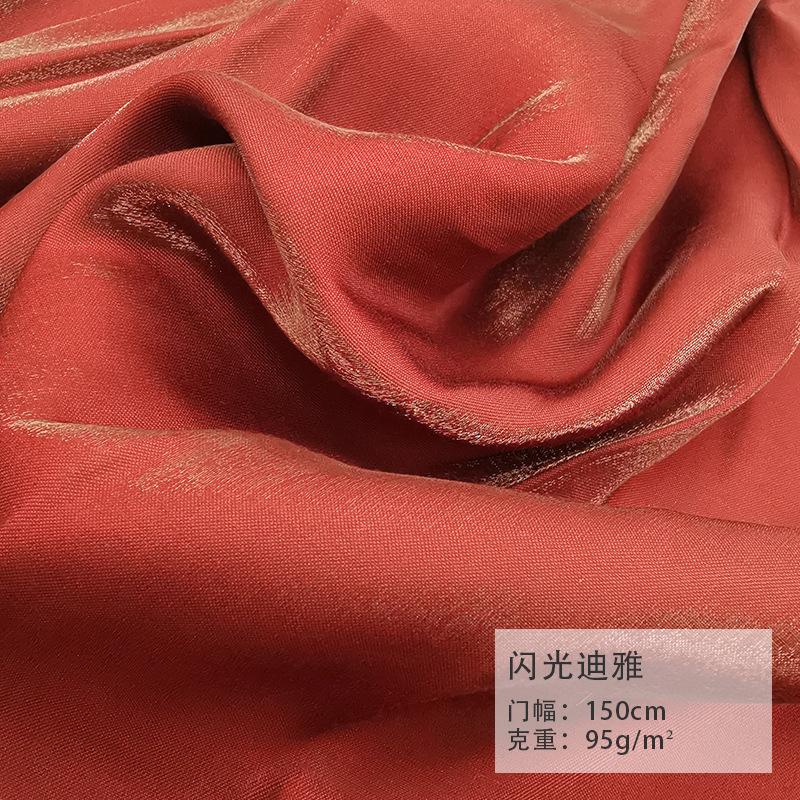YIXIN Vải cotton pha polyester Mùa xuân và mùa hè mới nhấp nháy Diya polyester cotton in kỹ thuật số