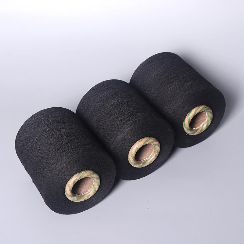 Sợi dệt Nhà máy cung cấp 19 sợi bông tái chế màu đen sợi bông Bông sợi polyester nhiều màu dệt sợi b