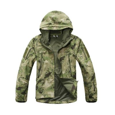 Áo nguỵ trang lính Xuyên biên giới cho ngoài trời da cá mập vỏ mềm áo khoác nam bán buôn tùy chỉnh l