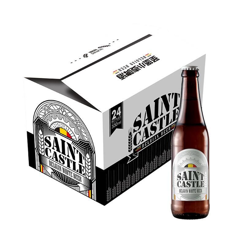 SHENGBAO NLSX bia Bỉ cổ điển nhập khẩu truyền thống St. Petersburg bia trắng bia 330ml * 24 chai đầy