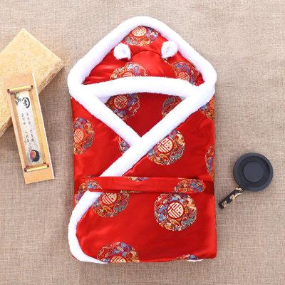 Túi ngủ giữ ấm cho trẻ sơ sinh với kiểu dáng trung hoa .