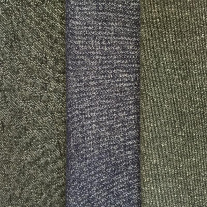 XIANGDA Vải French Terry (Vấy cá) Nhà máy trực tiếp vải polyester terry sợi AB áo len cá vảy vải mùa