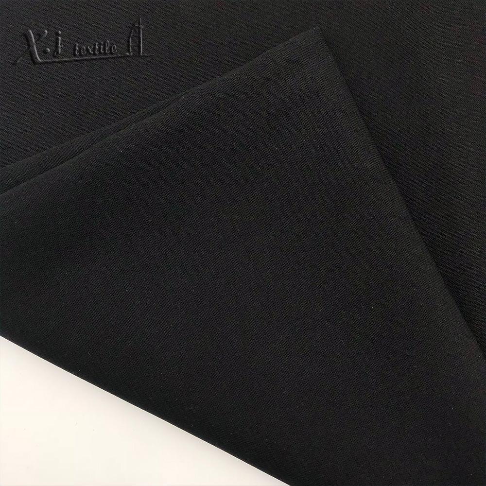 Vải Hemp mộc Vải đào màu đen đặc biệt (58/68 len đào) Vải áo choàng Trung Đông Ả Rập