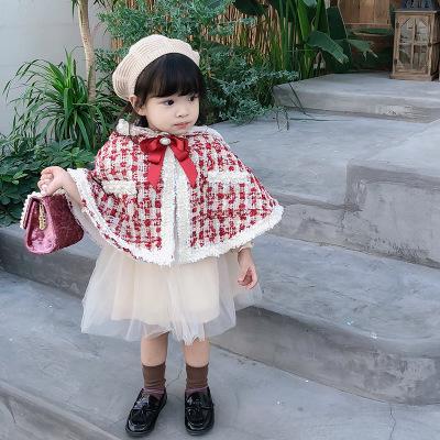 Áo choàng trẻ em Áo choàng cho bé mùa thu và mùa đông mới trùm đầu trẻ em chống gió ra ngoài quần áo