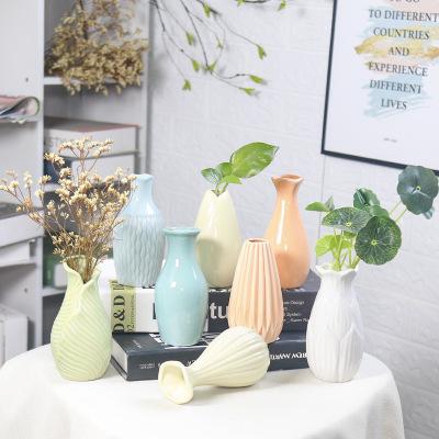 YYYY Bình bông Bình gốm tươi nhỏ thủy canh hiện đại tối giản nhà phòng khách trang sức hoa khô trang