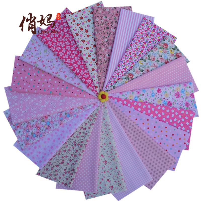 QIAOMA Vải Chiffon & Printing Vải cotton in vải thủ công DIY chắp vá 20 bột vải không lặp lại nhóm 2