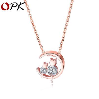 hàng trào lưu mới OPK thời trang khí chất xu hướng mới trang sức mạ đồng xuyên biên giới Hàn Quốc p
