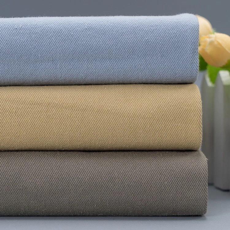 V ải Twill Thêm vải twill dày giặt bông 108 * 56 cotton quần áo mũ vải cát giặt vải nhăn