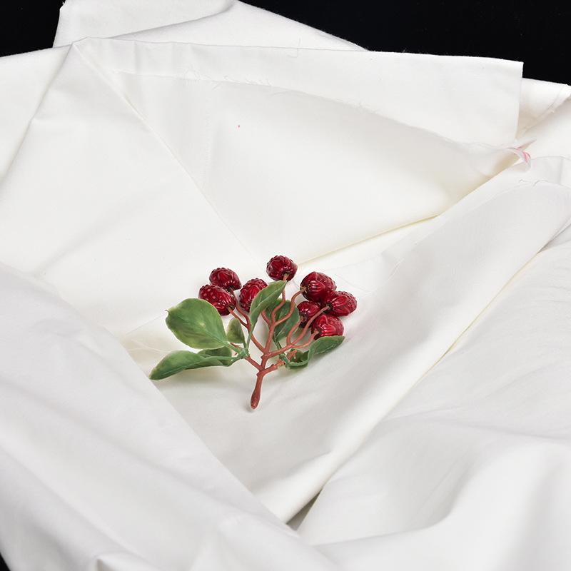 Vải mộc sợi hoá học Tại chỗ vải màu xám polyester dính hóa chất sợi vải màu xám tr80 / 20 104 × 46 6