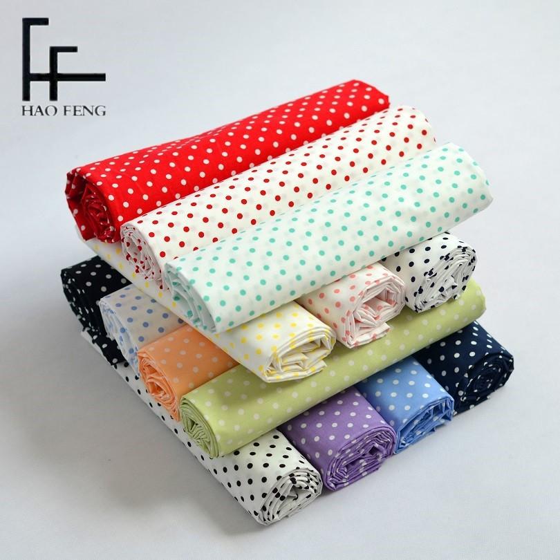 HAOFENG Vải Chiffon & Printing 25001 # cotton dot vải in trẻ em mặc vải váy vải cotton in vải poplin