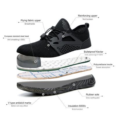 Giày cách điện  Phiên bản tiếng Anh của xuyên biên giới cho giày an toàn mùa hè thoáng khí chống mit