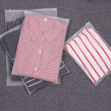 Dichang Túi đựng quần lót Áo sơ mi đai lưu trữ quần áo ướt túi lưu trữ nhựa trong suốt dây kéo túi đ