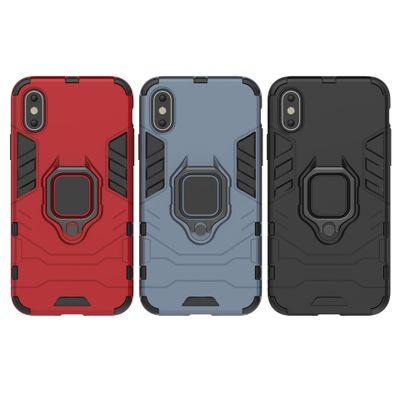 LANQF bao da điện thoại Áp dụng iPhoneXr Mobile Shell Ring Armor Apple X Mobile Phone Case 8plus Vỏ