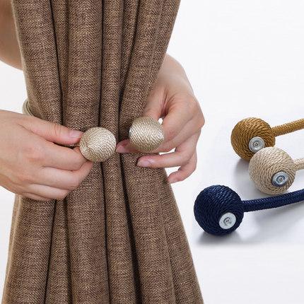 Hiện đại tối giản dây đai phòng khách đấm miễn phí rèm dây móc sáng tạo nam châm rèm khóa tường móc